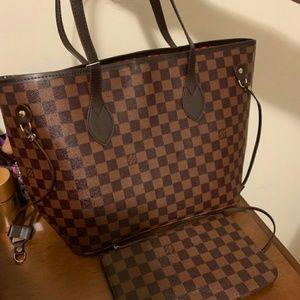 New Louis Vuitton Neverfull MM Tote Handbag Purse